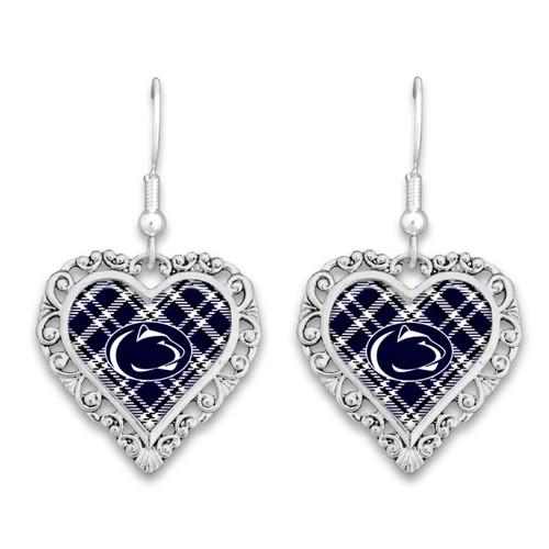 Penn State Nittany Lions Earrings- Plaid