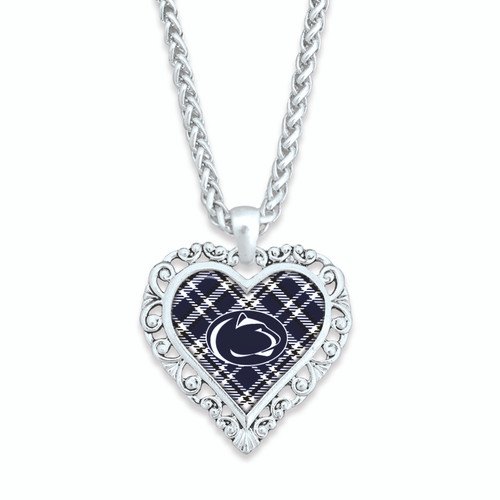 Penn State Nittany Lions Necklace- Plaid