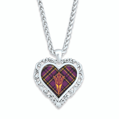Arizona State Sun Devils Necklace- Plaid