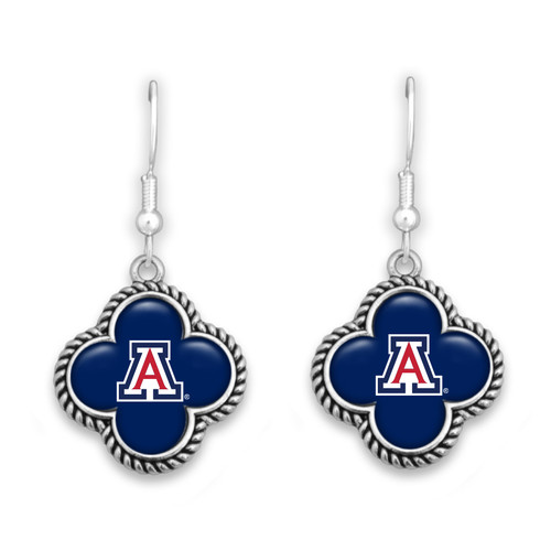 Arizona Wildcats Quatrefoil Earrings