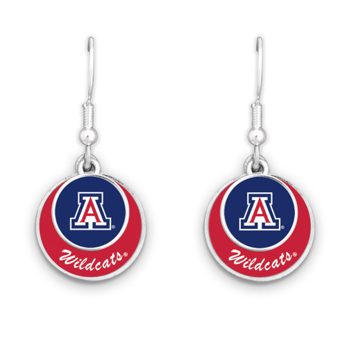 Arizona Wildcats Stacked Disk Earrings