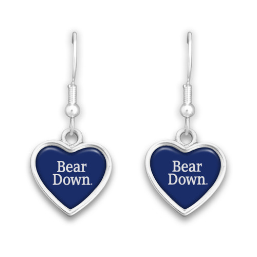 Arizona Wildcats Spirit Slogan Heart Earrings