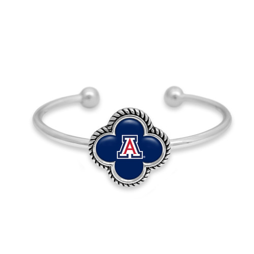 Arizona Wildcats Quatrefoil Cuff Bracelet