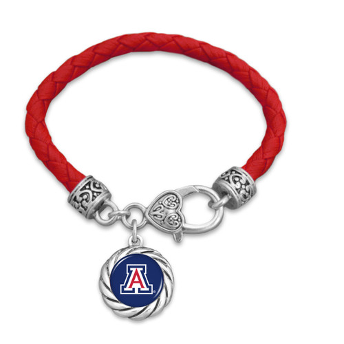 Arizona Wildcats Twisted Rope Harvey Bracelet
