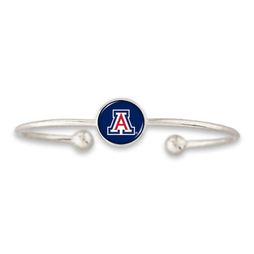 Arizona Wildcats Izzie Silver Dome Cuff College Bracelet
