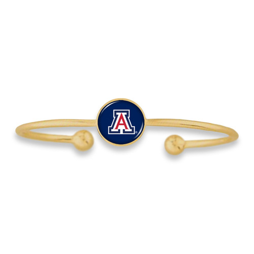 Arizona Wildcats Izzie Gold Dome Cuff College Bracelet