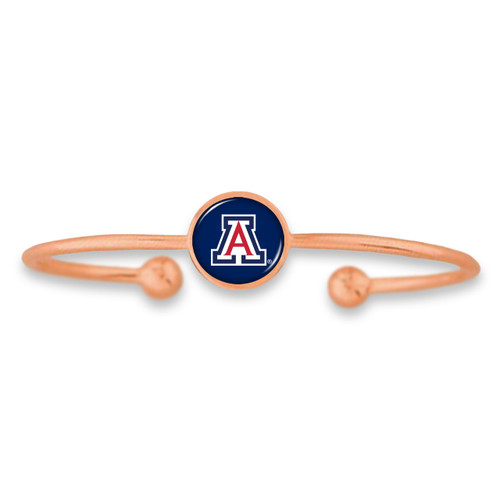 Arizona Wildcats Izzie Rose Gold Dome Cuff College Bracelet
