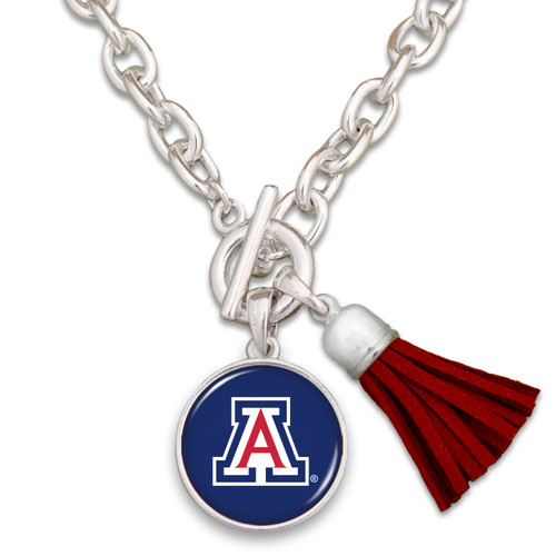 Arizona Wildcats Team Color Tassel Necklace