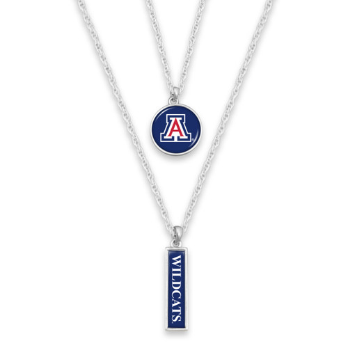 Arizona Wildcats Double Layer College Necklace