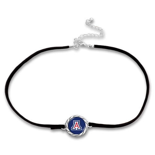 Arizona Wildcats Black Suede Choker Necklace