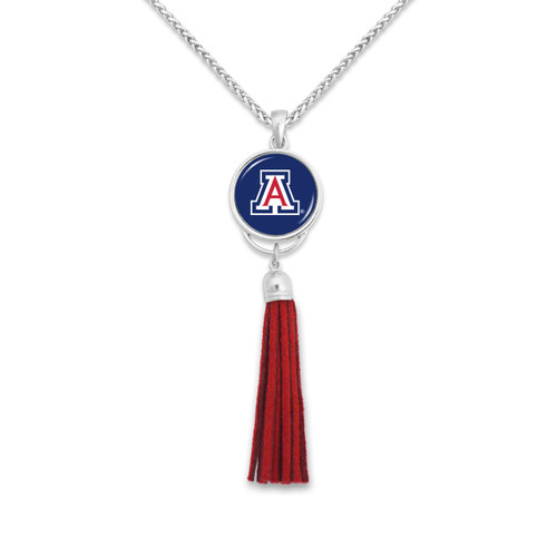 Arizona Wildcats Long Tassel Necklace