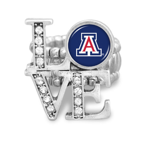 Arizona Wildcats LOVE Stretchy Ring