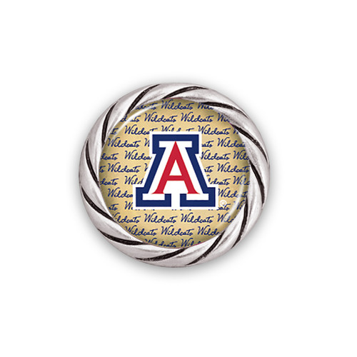 Arizona Wildcats Script Snap Button