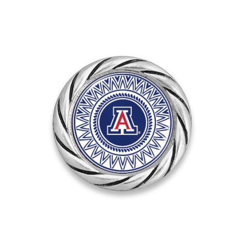 Arizona Wildcats Geometric Background Logo  Snap Button