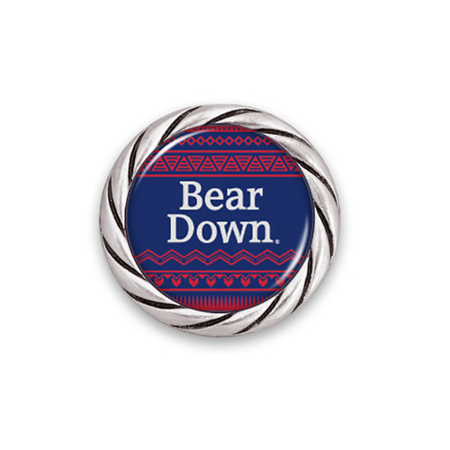 Arizona Wildcats Spirit Slogan Woven Aztec Snap Button