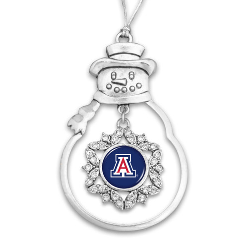 Arizona Wildcats Snowman Christmas Ornament