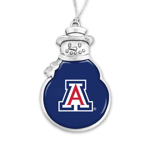 Snowman Arizona Wildcats Christmas Ornament