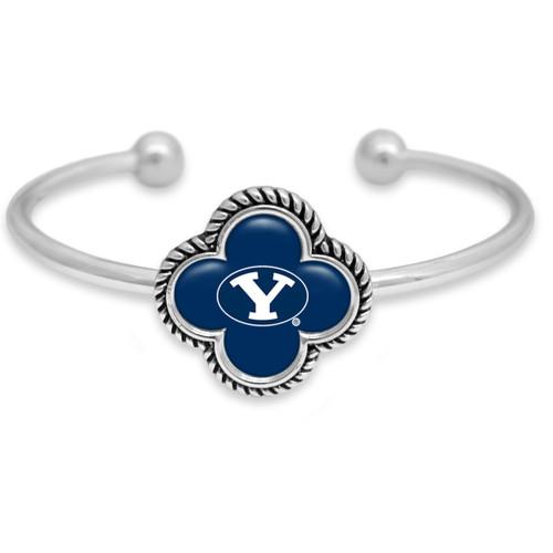 BYU Cougars Quatrefoil Cuff Bracelet