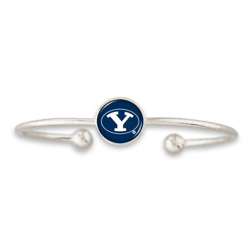 BYU Cougars Izzie Silver Dome Cuff College Bracelet