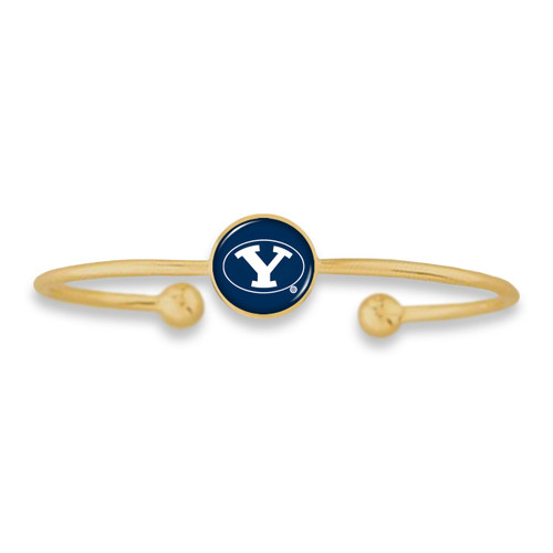 BYU Cougars Izzie Gold Dome Cuff College Bracelet
