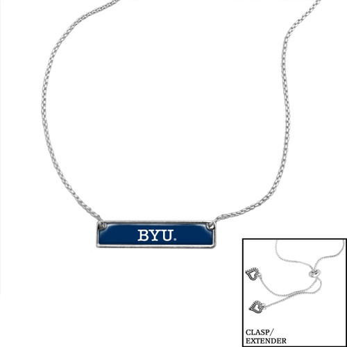 "BYU Cougars ""Nameplate"" Slider Bead Adjustable Necklace/Choker"