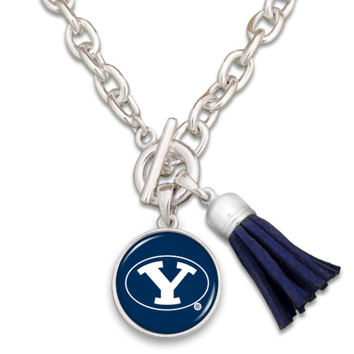BYU Cougars Team Color Tassel Necklace