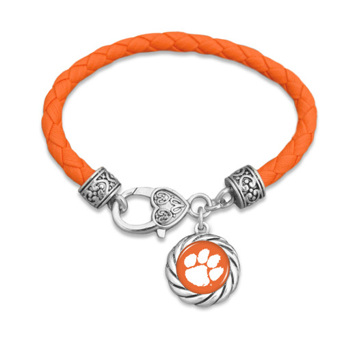 Clemson Tigers Twisted Rope Harvey Bracelet