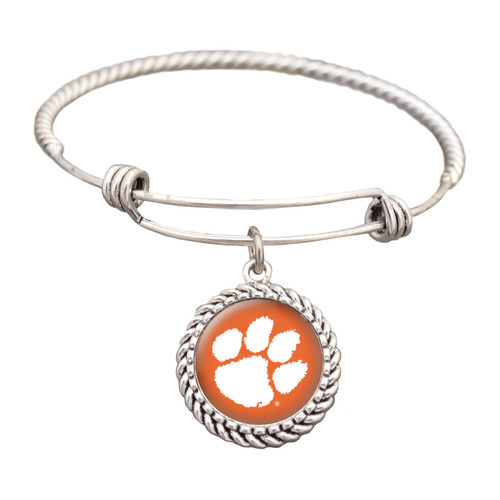 Clemson Tigers Double Rope Wire Bracelet