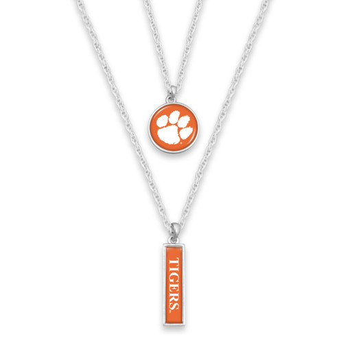 Clemson Tigers Double Layer College Necklace