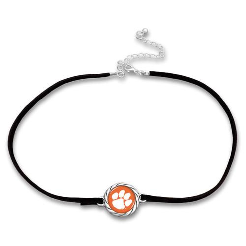 Clemson Tigers Black Suede Choker Necklace