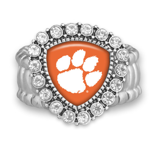 Clemson Tigers Brooke Stretchy Ring