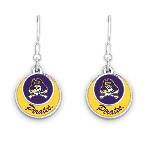East Carolina Pirates Earrings- Stacked Disk