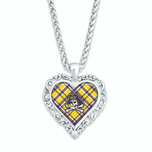 East Carolina Pirates Necklace- Plaid