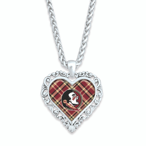 Florida State Seminoles Necklace- Plaid