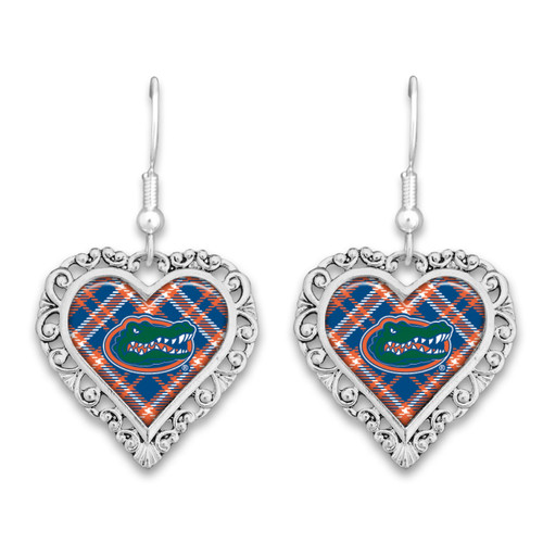 Florida Gators Earrings- Plaid