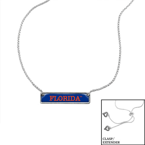 Florida Gators Slider Bead Adjustable Necklace- Nameplate