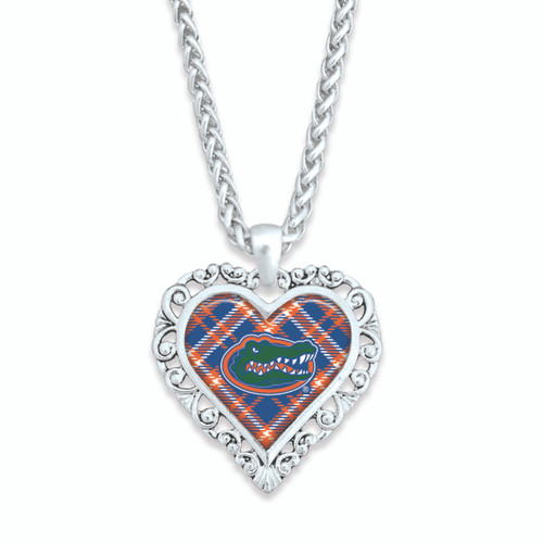 Florida Gators Necklace- Plaid