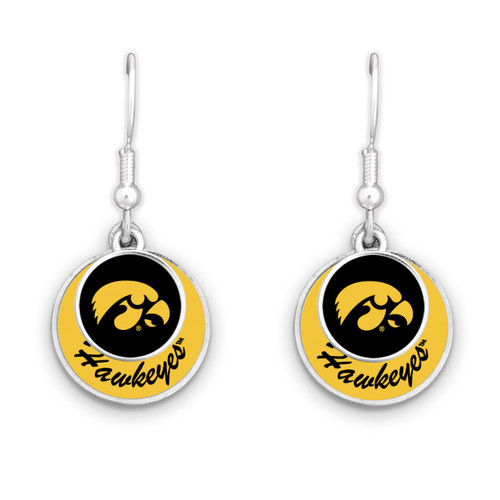 Iowa Hawkeyes Earrings- Stacked Disk