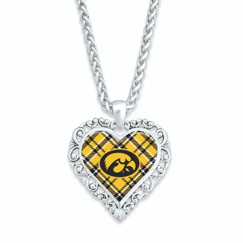 Iowa Hawkeyes Necklace- Plaid