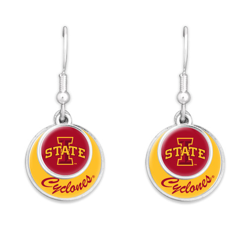 Iowa State Cyclones Earrings- Stacked Disk