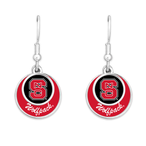 NC State Wolfpack Earrings- Stacked Disk