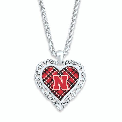 Nebraska Cornhuskers Necklace- Plaid