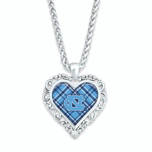 North Carolina Tar Heels Necklace- Plaid