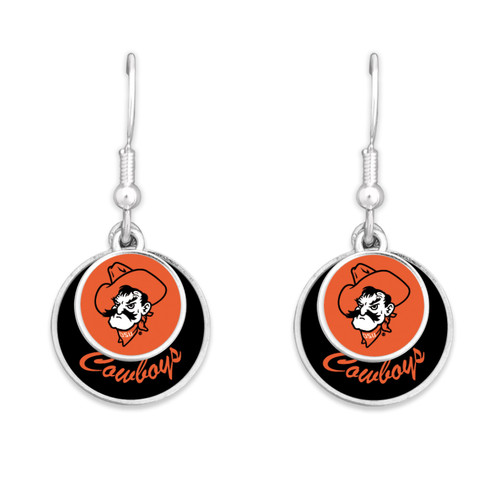 Oklahoma State Cowboys Earrings- Stacked Disk
