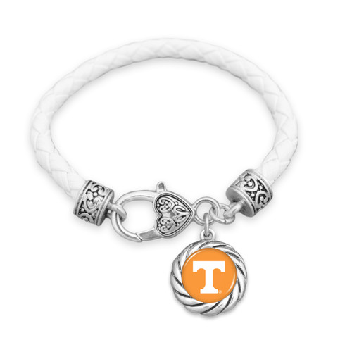 Tennessee Volunteers Bracelet- Harvey Leather Twisted Rope