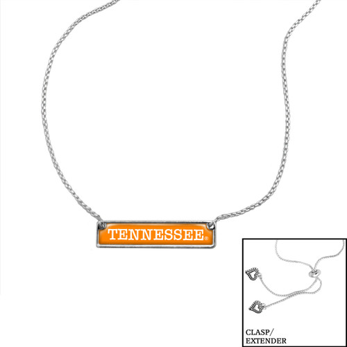 Tennessee Volunteers Slider Bead Adjustable Necklace- Nameplate