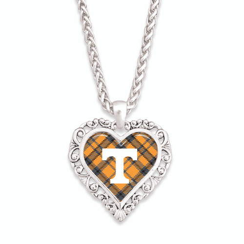Tennessee Volunteers Necklace- Plaid