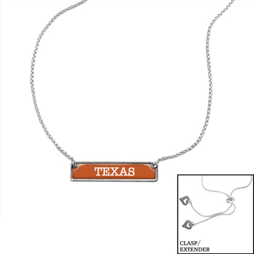 Texas Longhorns Slider Bead Adjustable Necklace- Nameplate