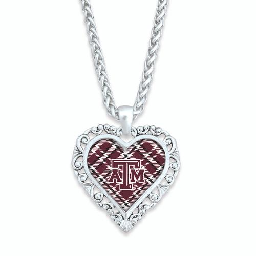Texas A&M Aggies Necklace- Plaid