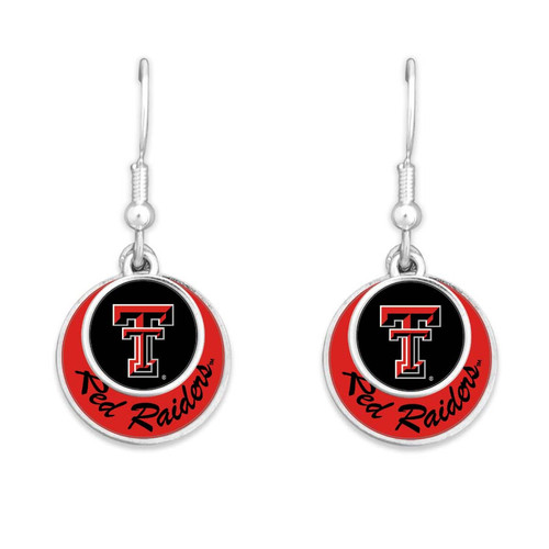 Texas Tech Raiders Earrings- Stacked Disk